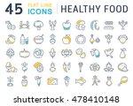set vector line icons in flat... | Shutterstock .eps vector #478410148