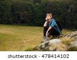 young beautiful woman traveling ... | Shutterstock . vector #478414102