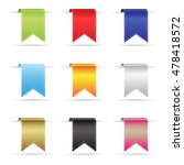 various color shiny curved... | Shutterstock .eps vector #478418572