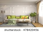 interior with sofa. 3d... | Shutterstock . vector #478420456