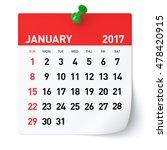 January 2017   Calendar....