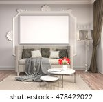 mock up poster frame in... | Shutterstock . vector #478422022