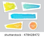 set of creative grunge banners  ... | Shutterstock .eps vector #478428472