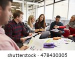 group of students in library... | Shutterstock . vector #478430305
