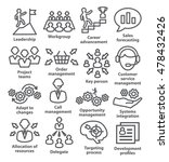business management icons in... | Shutterstock . vector #478432426