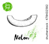 hand drawn sketch style melon... | Shutterstock .eps vector #478432582