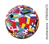 globe with world flags isolated ... | Shutterstock .eps vector #478432672