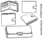 vector set of sketch wallets   Shutterstock .eps vector #478437628
