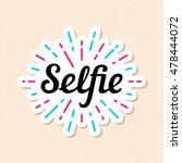 selfie logo design template....   Shutterstock .eps vector #478444072