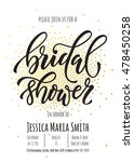 bridal shower invitation card... | Shutterstock .eps vector #478450258