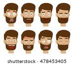 character faces vector  human... | Shutterstock .eps vector #478453405