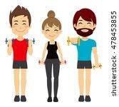 men and woman doing fitness...   Shutterstock .eps vector #478453855