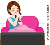 young woman crying while... | Shutterstock .eps vector #478453885