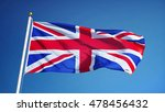 great britain flag waving... | Shutterstock . vector #478456432