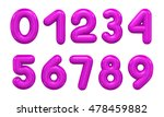 three dimensional number in... | Shutterstock . vector #478459882