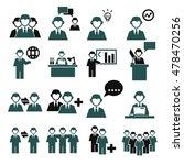 employee  employees icon set | Shutterstock .eps vector #478470256