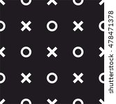 tile x o noughts and crosses... | Shutterstock .eps vector #478471378