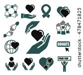 donate  charity icon set | Shutterstock .eps vector #478471825