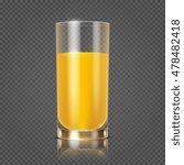 orange juice in glass vector... | Shutterstock .eps vector #478482418