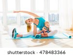 sports mother is engaged in... | Shutterstock . vector #478483366