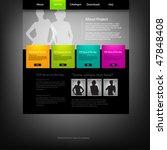 web site design template ... | Shutterstock .eps vector #47848408