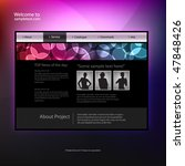web site design template ...   Shutterstock .eps vector #47848426