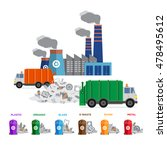 waste segregation and garbage... | Shutterstock .eps vector #478495612