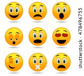 set of emoticons. smile icons.... | Shutterstock .eps vector #478496755
