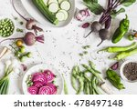 fresh raw vegetables   beets ... | Shutterstock . vector #478497148
