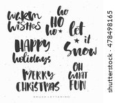 christmas quote  brush... | Shutterstock .eps vector #478498165