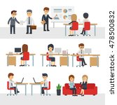 business people work at office... | Shutterstock .eps vector #478500832