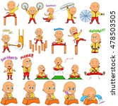 japanese priest boy emoji for... | Shutterstock .eps vector #478503505