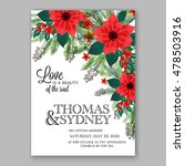 Poinsettia Wedding Invitation...