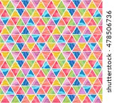 colored triangles. figures with ... | Shutterstock .eps vector #478506736
