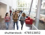 students walk and talk using... | Shutterstock . vector #478513852