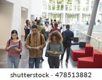 students walk in university... | Shutterstock . vector #478513882