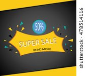 sale banner template. 50  off.... | Shutterstock .eps vector #478514116