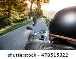 the view over the handlebars of ... | Shutterstock . vector #478515322