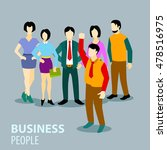 flat business illustration with ... | Shutterstock .eps vector #478516975