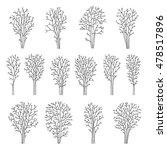 set of line trees  vector... | Shutterstock .eps vector #478517896