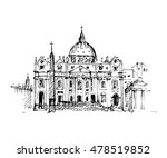 hand drawn hungarian parliament ... | Shutterstock .eps vector #478519852