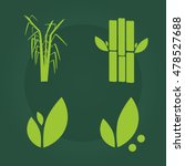 sugar cane flat icons set...   Shutterstock .eps vector #478527688