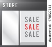 shop with empty display sale... | Shutterstock .eps vector #478527985