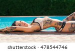 sexy tattooed woman portrait in ...   Shutterstock . vector #478544746