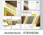 social media posts set.... | Shutterstock .eps vector #478548286