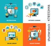 online education design concept ... | Shutterstock . vector #478553446