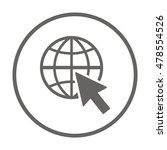 website  icon vector. flat...   Shutterstock .eps vector #478554526
