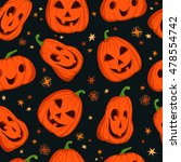 halloween seamless pattern with ... | Shutterstock .eps vector #478554742