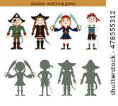 shadow watching game  pirate.... | Shutterstock .eps vector #478555312