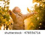 little child catching falling... | Shutterstock . vector #478556716